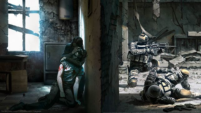 "Grafika koncepcyjna z gry ""This War of Mine"""