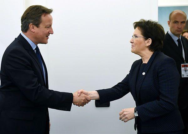 Premier Ewa Kopacz i premier Wielkiej Brytanii David Cameron