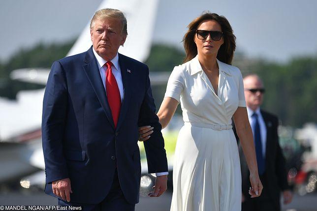 Od lewej: Donald Trump (prezydent USA) z małżonką Melanią przylecą do Polski 31 sierpnia