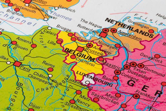 Belgia i Francja graniczą z sobą na 620 km