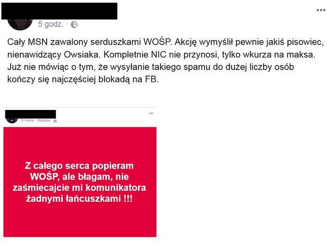 Wpisy niezadowolonych internautów