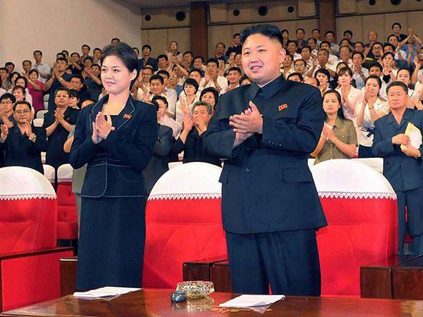 Kim Dzong Un ze swoją wybranką