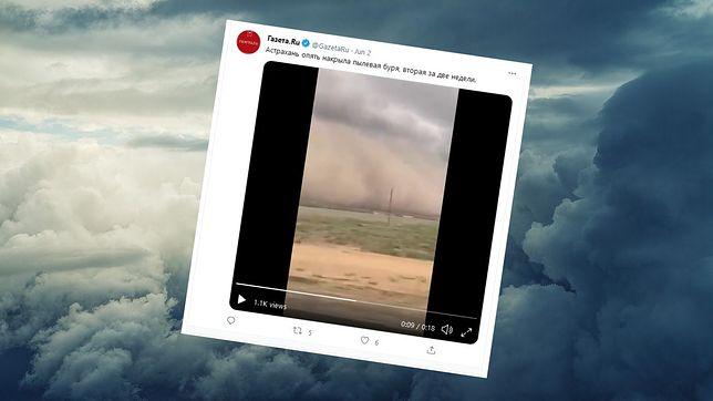 Burza piaskowa w Rosji