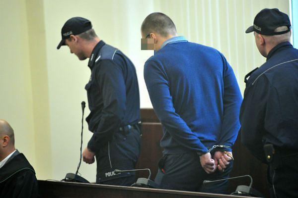 Mateusz S. podczas procesu w Sądzie Okręgowym w Szczecinie we wrześniu br.