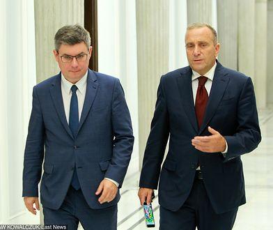 Jan Grabiec i Grzegorz Schetyna