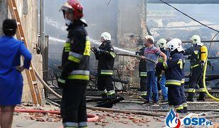 Pożar w Chróścinie Opolskiej. Nie wiadomo, co doprowadziło do wybuchu ognia