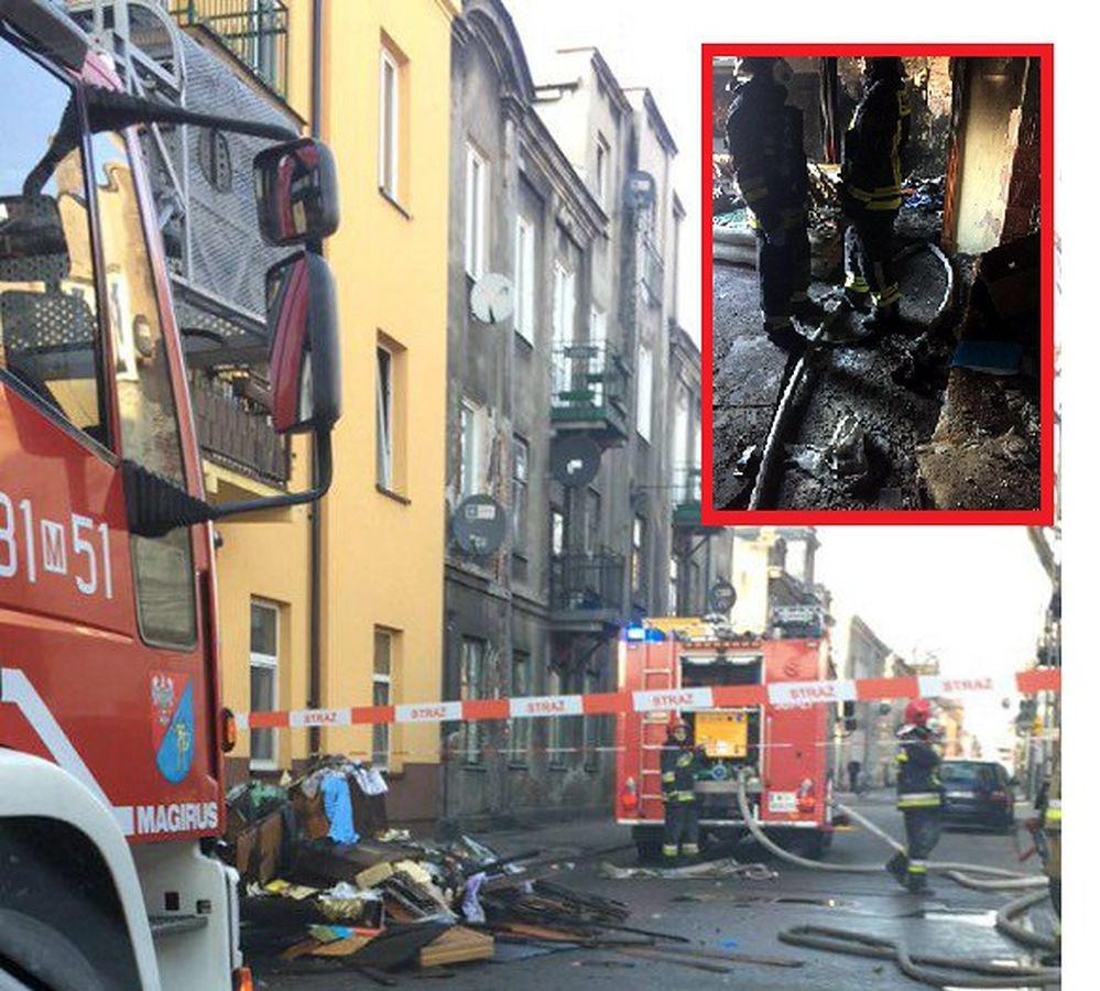 Warszawa. Policjanci uratowali 81-letnią kobietę z pożaru