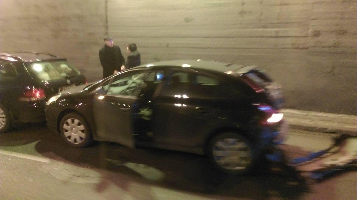 Zderzenie w tunelu na Prymasa Tysiąclecia