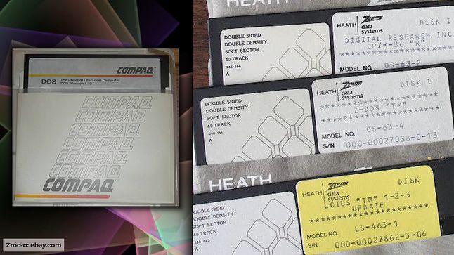 Compaq PC DOS i Z-DOS czyli MS-DOS.