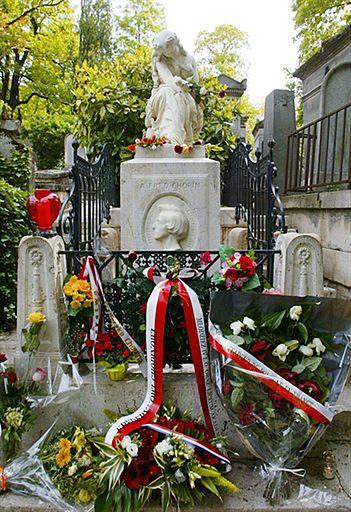 Grobowiec Fryderyka Chopina na cmentarzu Pere Lachaise