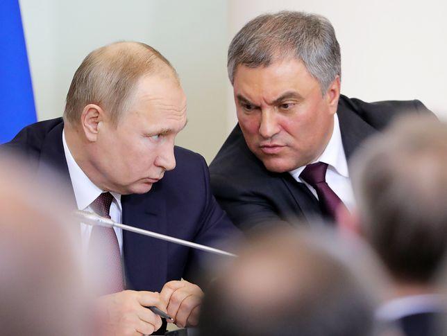 Władimir Putin i spór o historię. Wiaczesław Wołodin: Polska powinna przeprosić za obozy zagłady