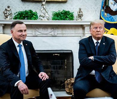 Relacje z USA. Koziński: Jedna z niewielu okazji Andrzeja Dudy na odegranie politycznej roli (OPINIA)