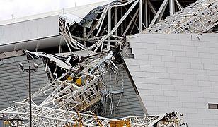 Zawaliła się część dachu stadionu w Sao Paulo. Są ofiary