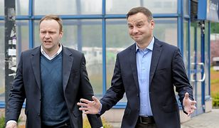 Wybory prezydenckie 2020. Marcin Mastalerek oraz Andrzej Duda (zdj. arch.)
