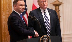 Andrzej Duda i Donald Trump w Białym Domu