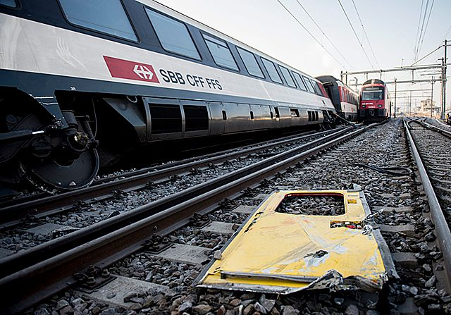 Szwajcaria - zderzenie dwóch pociągów