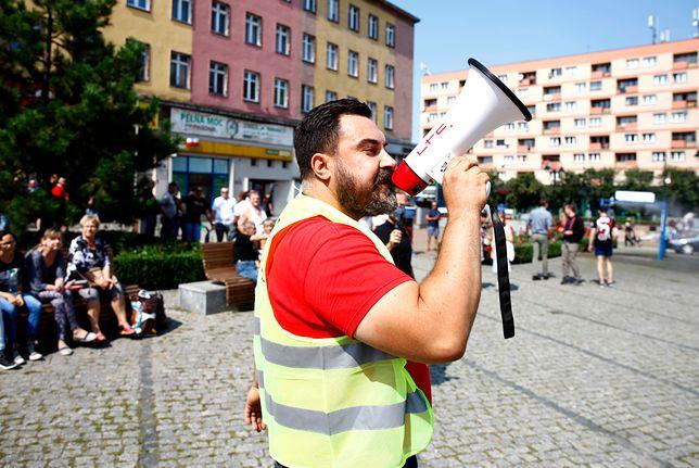 Na Marszu Równości w Zabrzu pojawił się tylko sam organizator