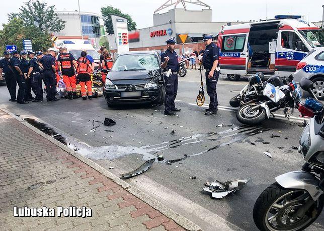 Kostrzyn nad Odrą. Wypadek policjanta