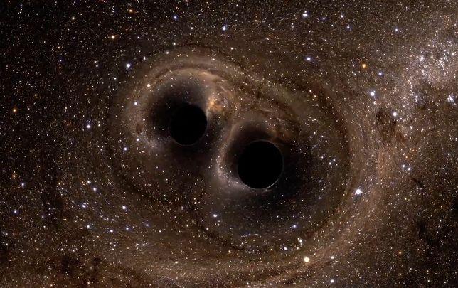 Naukowcy dokonali niezwykłego odkrycia. Zaobserwowali potężną kolizję czarnych dziur