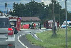 Śląskie. Tragiczny wypadek w Hecznarowicach, nie żyje motocyklista