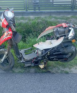 Śląskie. Tragiczny wypadek. Zginął motorowerzysta