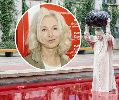 Manuela Gretkowska krótko podsumowała nową rzeźbę papieża