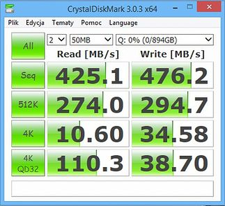 CrystalDiskMark -małe pliki :)
