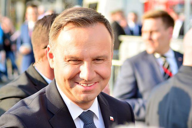Andrzej Duda świetnie się bawił