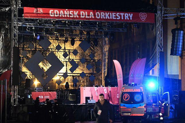 Gdańsk. Opustoszała scena WOŚP po ataku na prezydenta miasta Pawła Adamowicza (zdj. arch.)
