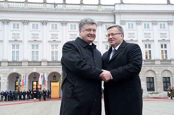 Bronisław Komorowski podpisał ustawę o ratyfikacji umowy UE-Ukraina