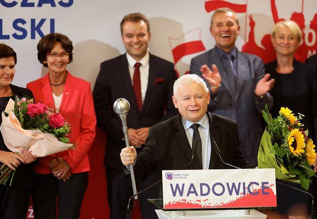 Wybory parlamentarne 2019. Jarosław Kaczyński na konwencji w Wadowicach