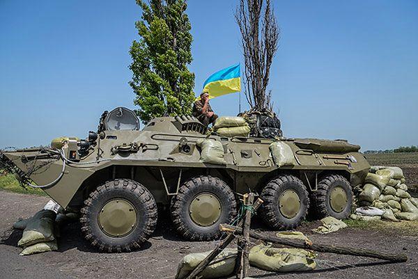 Posterunek ukraińskiego wojska