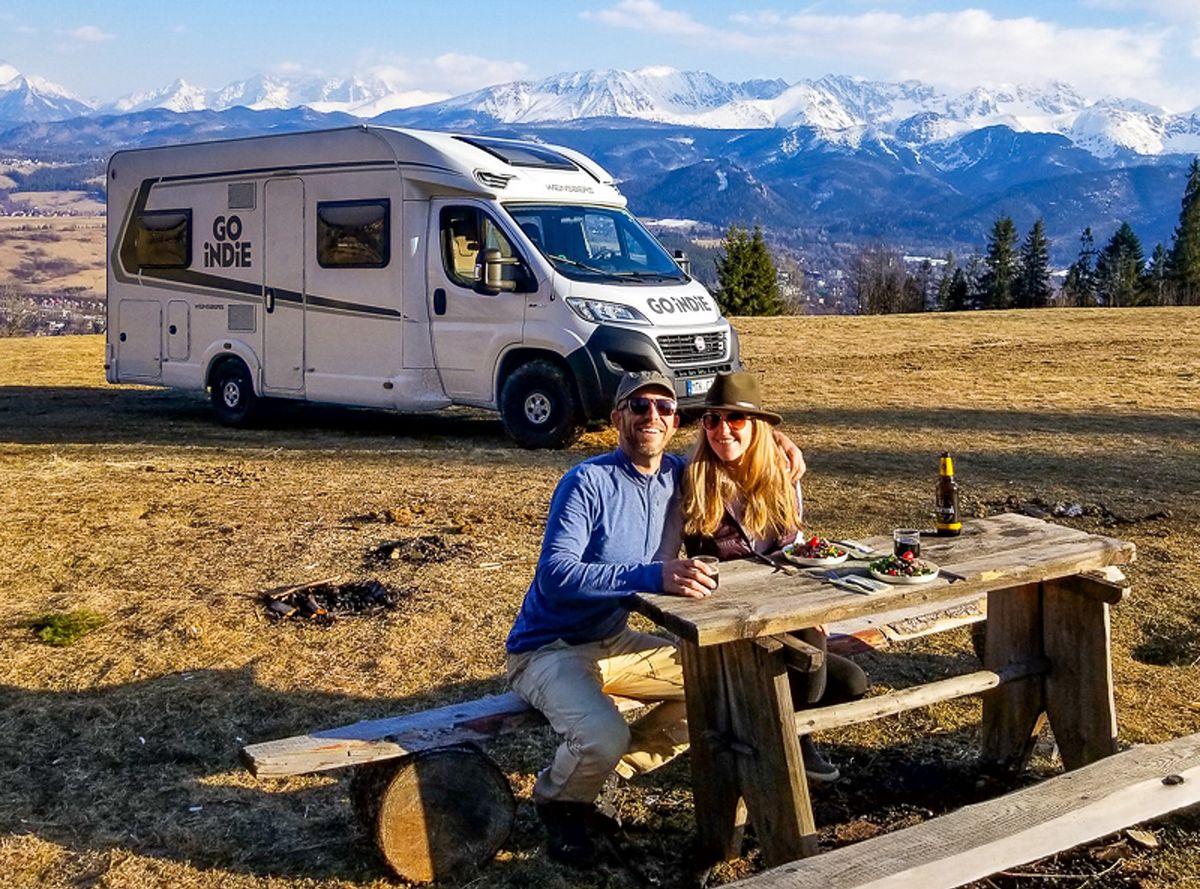 Mike i Anne w polskich górach