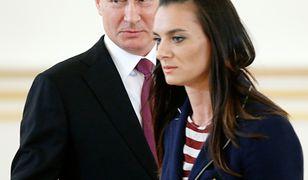 Władimir Putin i rosyjska tyczkarka Yelena Isinbayeva