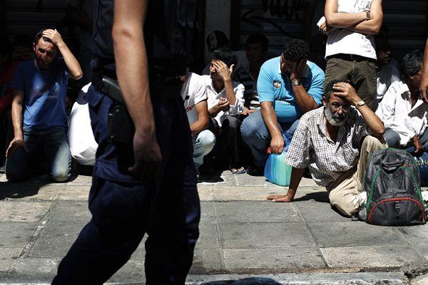 Grecka policja przeprowadzi akcję zatrzymań nielegalnych imigrantów