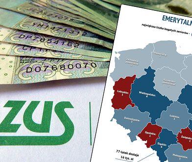 Wysokie emerytury? Najwięcej jest ich na Śląsku i Mazowszu.
