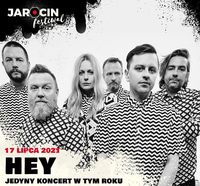 Hey zagra koncert na festiwalu w Jarocinie