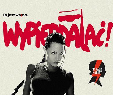 """Jolie """"dołącza"""" do protestu kobiet. Wulgarny plakat robi furorę"""