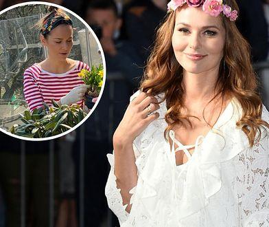 Paulina Sykut-Jeżyna zabrała się za sadzenie kwiatów. Wcześniej był czas na wiosenne porządki