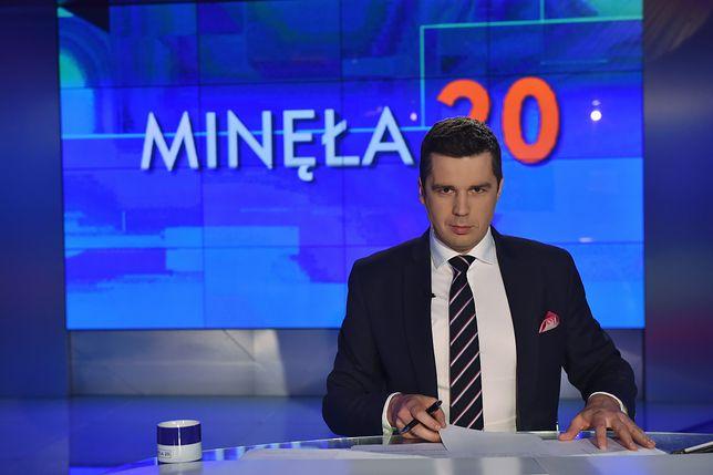 Michał Rachoń jest jedną  z twarzy TVP Info