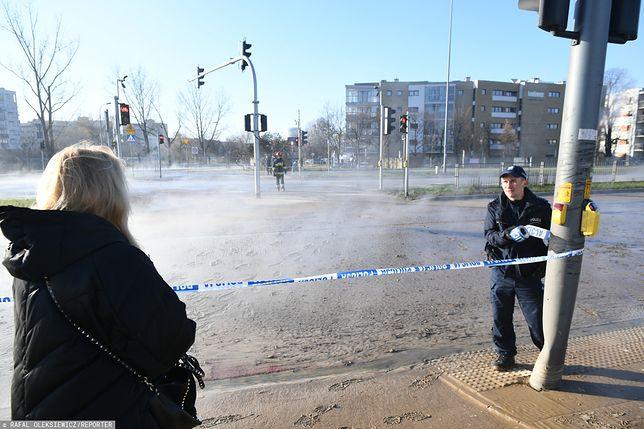Warszawa. Awaria sieci ciepłowniczej na Sadybie