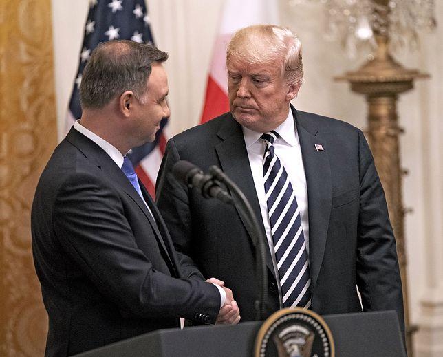 """Prezydent Duda i Donald Trump podpiszą w Waszyngtonie deklarację ws. """"Fortu Trump"""""""