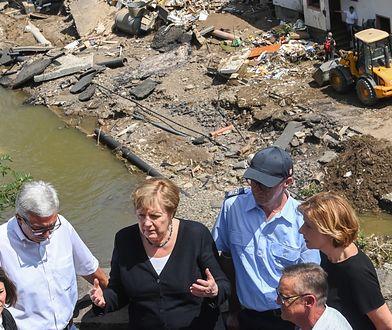 Tragiczne powodzie w Niemczech. Mocne słowa Merkel o spustoszeniu kraju