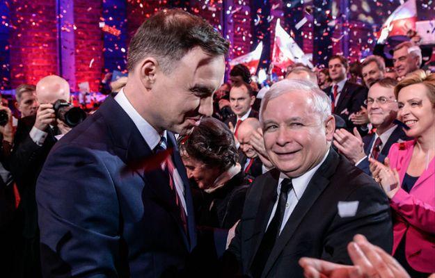 Prezydent Andrzej Duda i prezes PiS Jarosław Kaczyński.