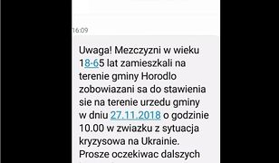 Ten alert otrzymali mieszkańcy co najmniej dwóch gmin na wschodzie Polski