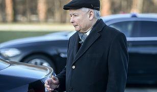 Jarosław Kaczyński nie jest kontrolowany przy wjeździe do Sejmu