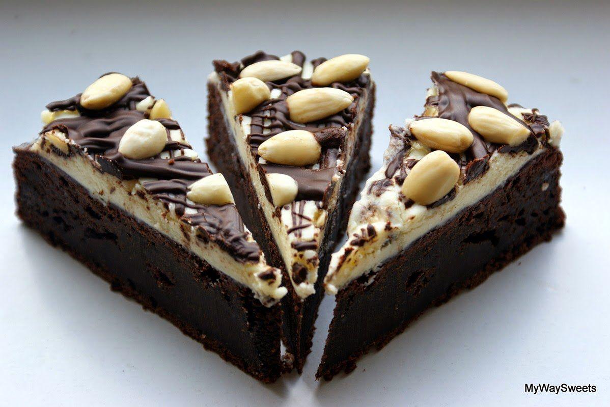 Ciasto czekoladowo-jogurtowe z migdałami