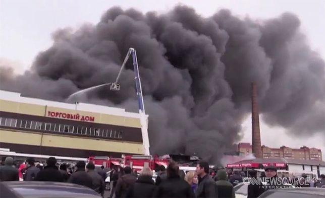 Pożar centrum handlowego w Kazaniu