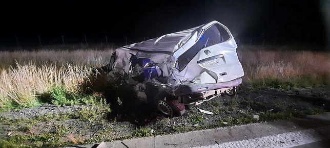 Poważny wypadek na A4. Kierowca zabrany do szpitala
