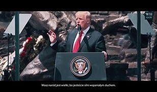 """""""Powalający"""", """"dumna opowieść o naszej Ojczyźnie"""". Powstał film o wizycie Trumpa w Warszawie"""